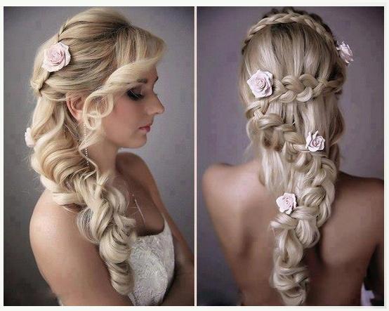 un recogido perfecto para cabellos largos y ondulados