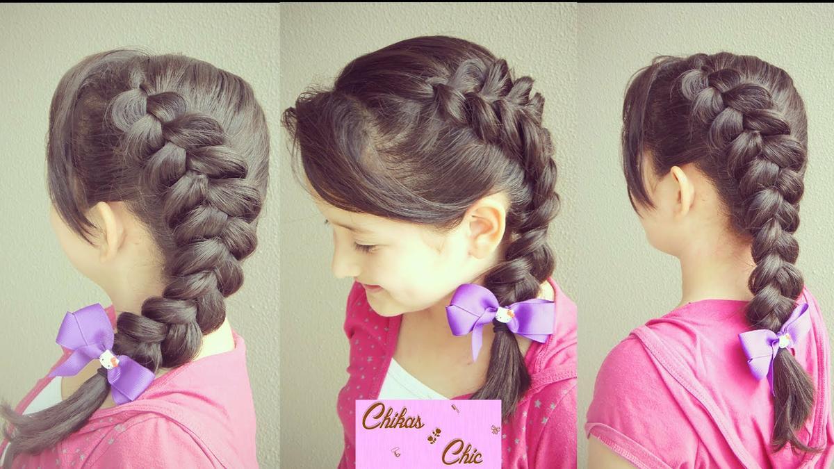 Peinados f ciles para ni a y mujer cabello corto y largo - Trenzas para nina faciles ...