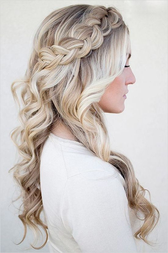 Hairstyles for long hair braids for prom