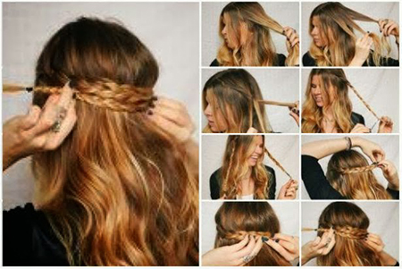 paso a paso de un peinado semi recogido muy simple para hacer vos misma