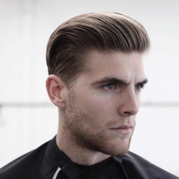 corte de pelo de hombre peinado con gel para atrs