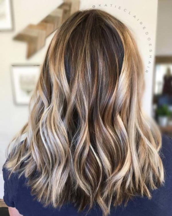 Light Ash Brown Hair With Highlights Short