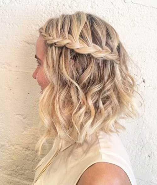 trenzas en pelo corto hermoso peinado con trenza y ondas hermosas