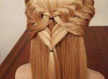 peinados con ondas trenzas y rulos para cabello corto y largo