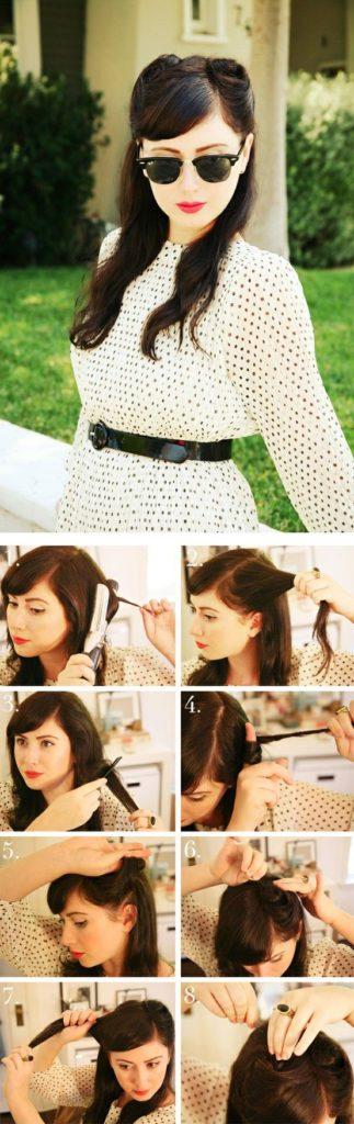 paso a paso para crear en tu cabello un peinado pin up estilo aos