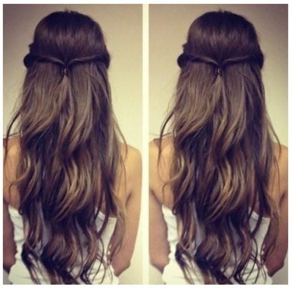 peinados para cabello largo lacio faciles manualidades