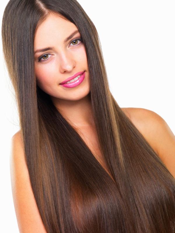 cabello largo lacio y hermoso
