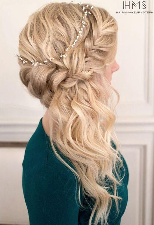 peinados de lado con ondas bucles y trenzas u de peinados