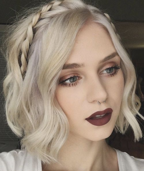 Headband hairstyle for short hair