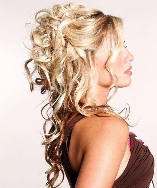 sin dudas peinados semirecogidos muy glamorosos - Peinados De Fiesta Semirecogidos