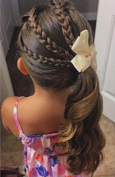 Peinados para niñas cabello largo suelto