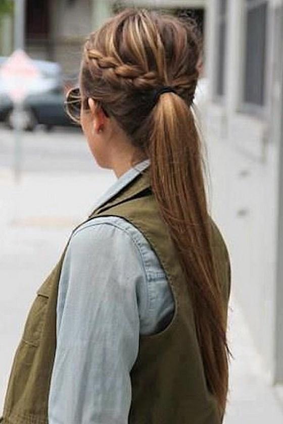 peinados fciles para nia y mujer cabello corto y largo de peinados - Trenzas Pelo Largo