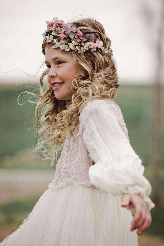 Rápido y fácil peinados niña comunion fotos Imagen de ideas de color de pelo - Peinados para Comunión: 110 ideas Bonitas y Elegantes ...