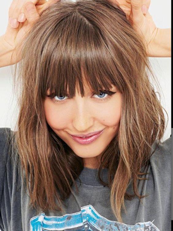 cortes de pelo para mujeres con fleco