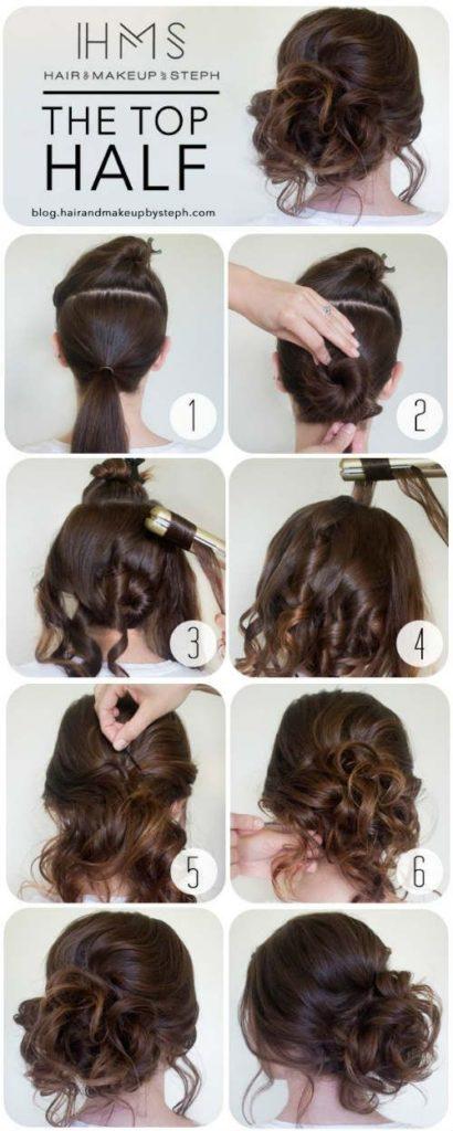 Peinados pelo recogido paso a paso