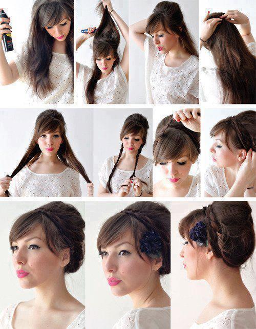 Imagenes de peinados simples paso a paso