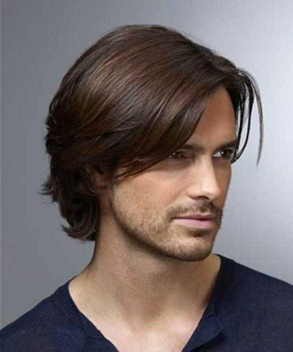 imagen de corte de pelo para hombres que tienen pelo largo y lacio - Cortes De Pelo Largo Hombre