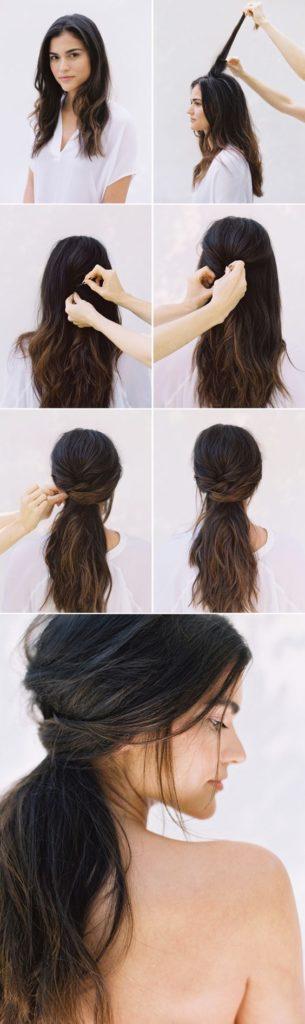 Peinados para cabello corto recogido casual