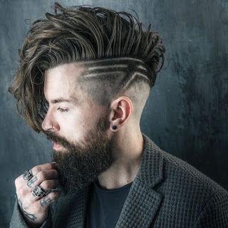 Peinados de caballeros con rayas