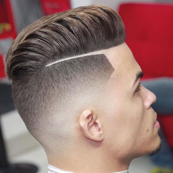 Cortes de cabello para jovenes con rayas