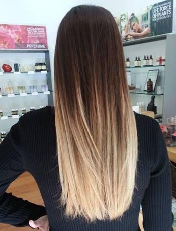 Balayage cabello lizo