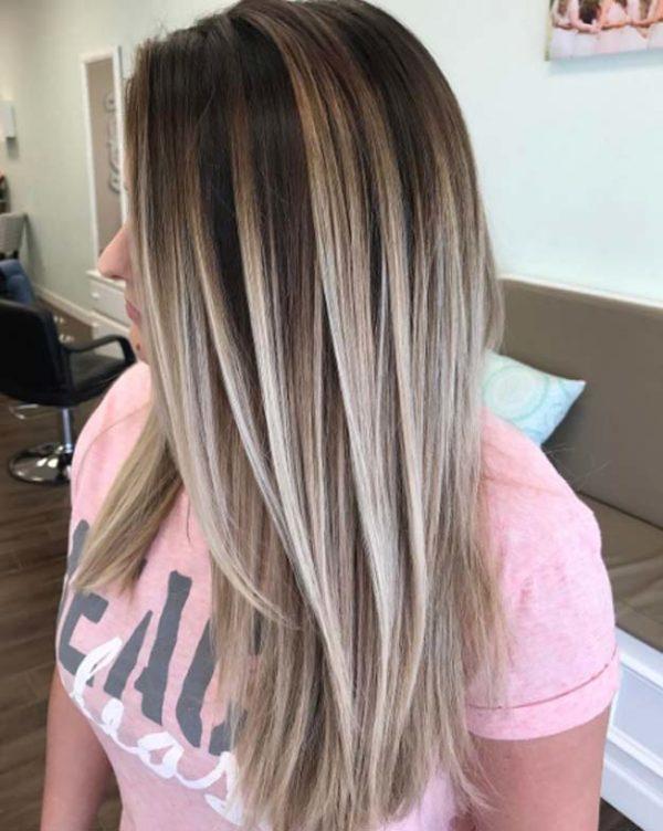 Color de pelo mechas balayage