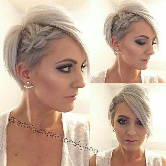 Peinados para cabello bien corto mujer