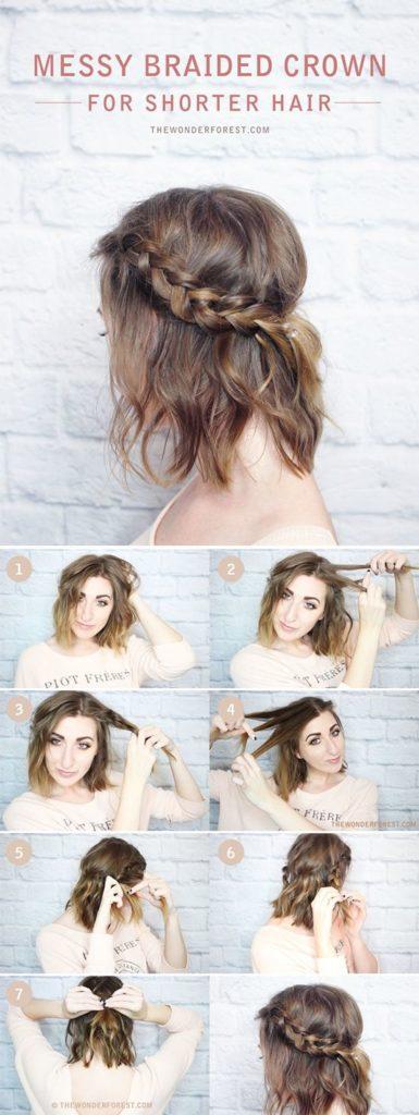 Como hacer trenzas de pelo corto