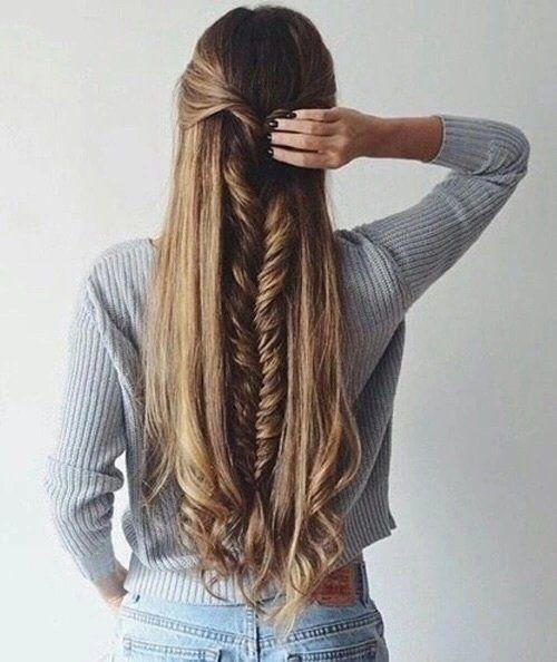 bella trenza hecha en pelo largo - Trenzas Pelo Largo