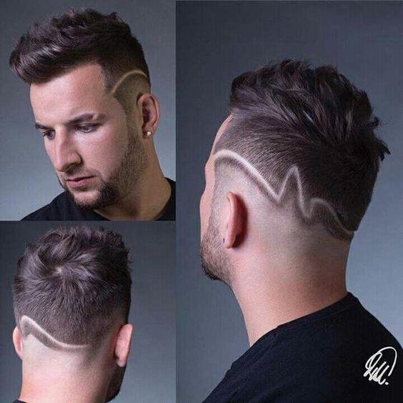 Peinados Con Neas Rayas Para Hombres