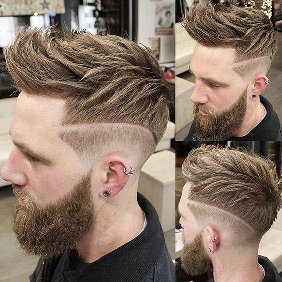 Peinados Con Lineas O Rayas Para Hombres De Peinados