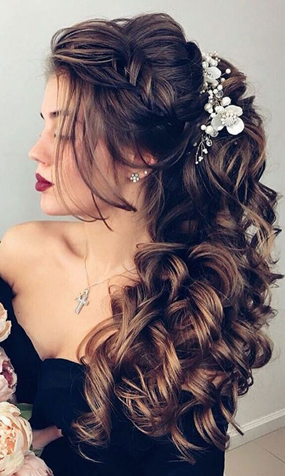 Peinados para novias bucles