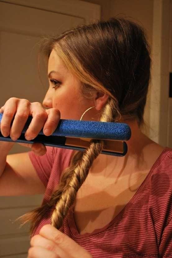 Peinados faciles con plancha para cabello largo