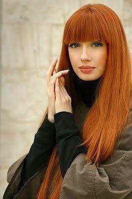 Color de pelo anaranjado natural