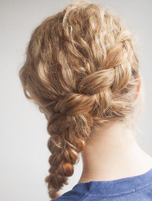 Como hacer trenzas en pelo rizado corto