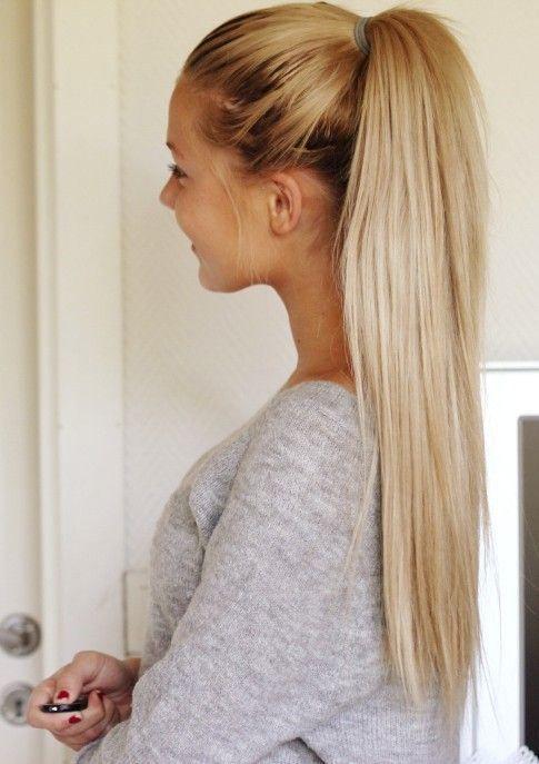 peinado simple para un pelo largo - Peinados Largos