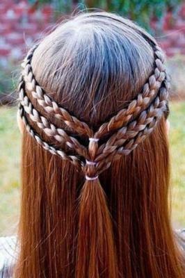 Peinados pelo largo de nina