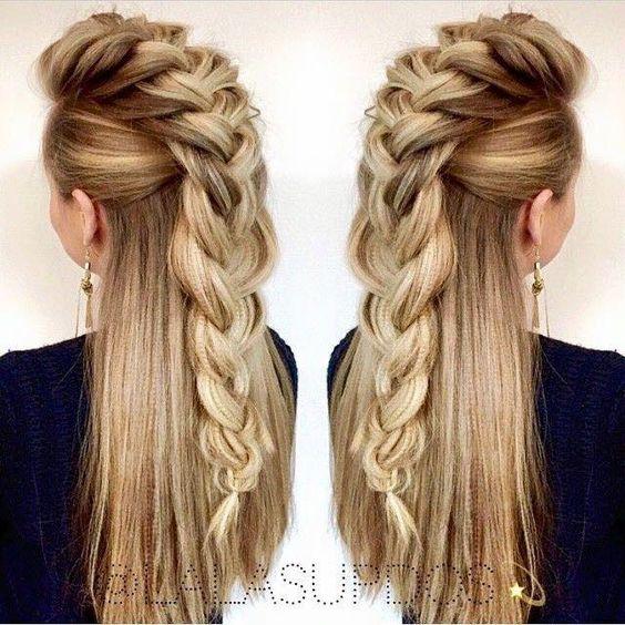 imagen con cabello largo con trenza espectacular - Trenzas Pelo Largo