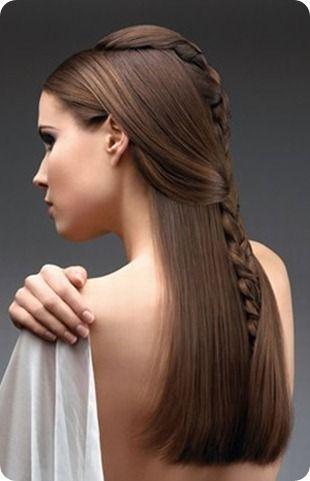 Peinados para fiestas cabello largo lacio