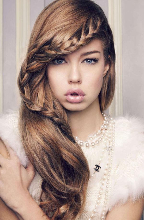Diferentes versiones peinados con bucles Fotos de tutoriales de color de pelo - Peinados de Lado Semirecogidos, con Ondas, Bucles y ...