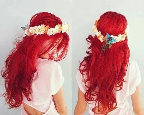 Color de pelo rojo gilda