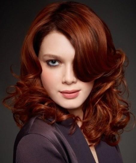 Color rojo caoba para el cabello