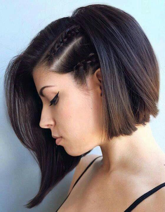 elegante peinado para una mujer que tiene el pelo corto - Pelados Cortos Mujer