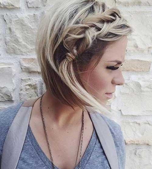 Peinados para cabello corto mujeres 2017