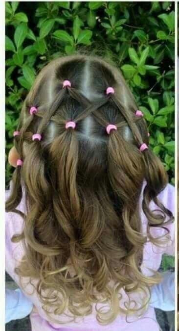 Peinados de nina pelo corto con ligas