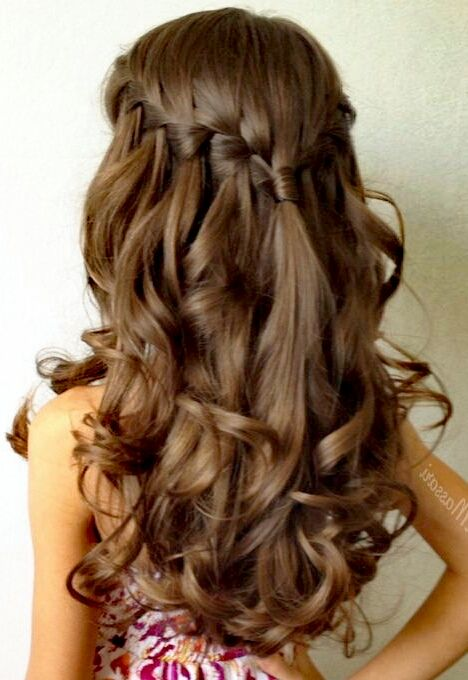120 Peinados Para Ninas Faciles Bonitos Rapidos Y Elegantes De - Peinados-con-trenzas-y-pelo-suelto