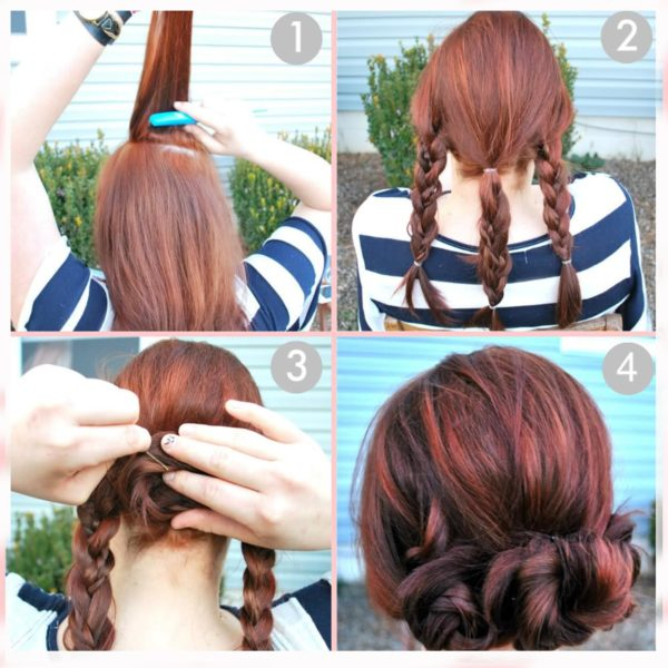 120 Peinados Para Ninas Faciles Bonitos Rapidos Y Elegantes De - Como-hacer-peinados-de-fiesta-faciles-paso-a-paso