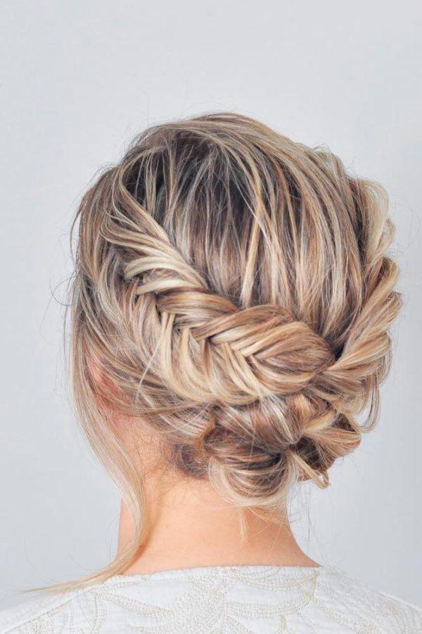 Peinados para fiesta cabello recogido