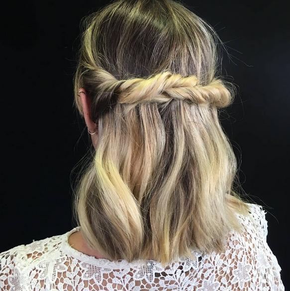 Como hacer peinados faciles en cabello corto