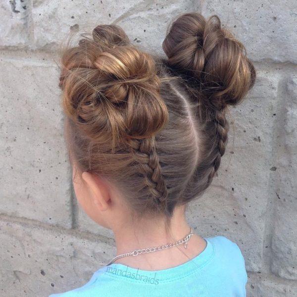 Peinados para ninas cabello corto recogido